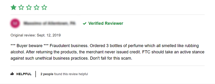 FragranceNet has been accused of selling used or opened perfumes by customer reviews, and in some cases, is believed to have sold counterfeits.